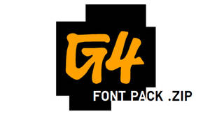 G4 Font Pack (.ZIP File Edition)