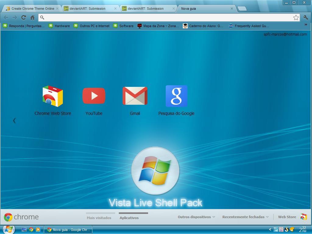 Google themes live - Vista Live Blue Fa For Google Chrome By M4rqu1nh0s