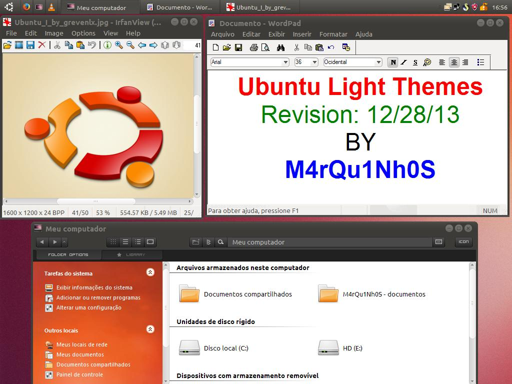 Ubuntu Light Themes 12.10