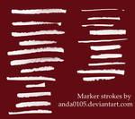 Marker strokes brushes