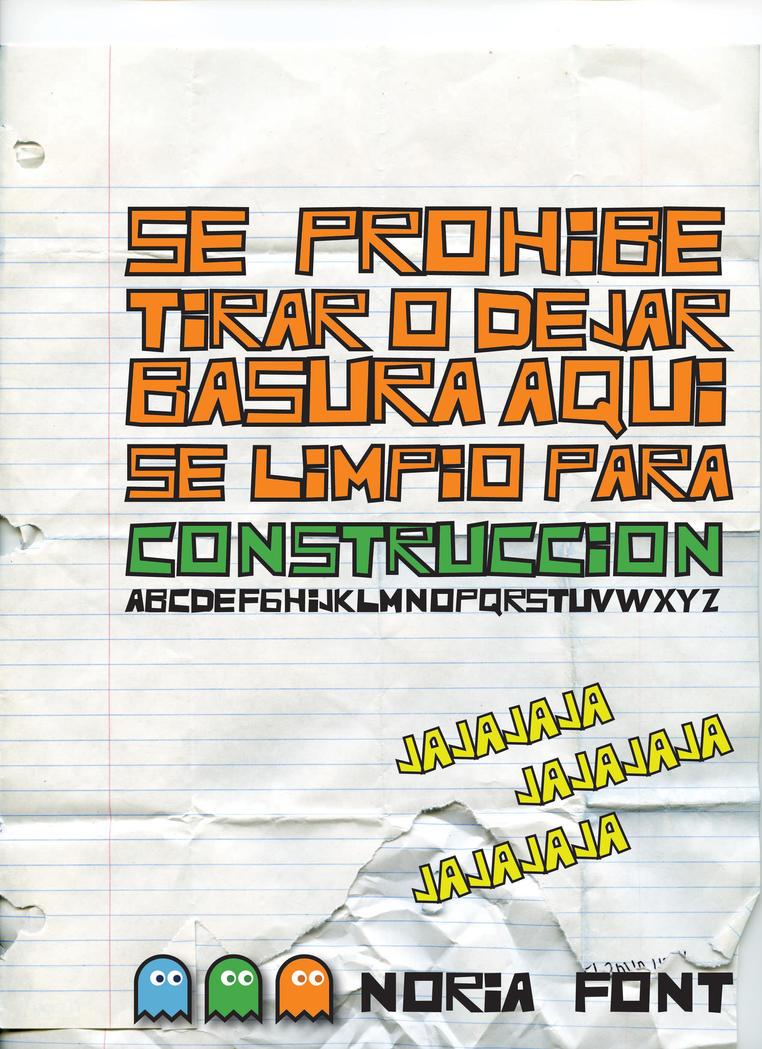 noria font by estebanms