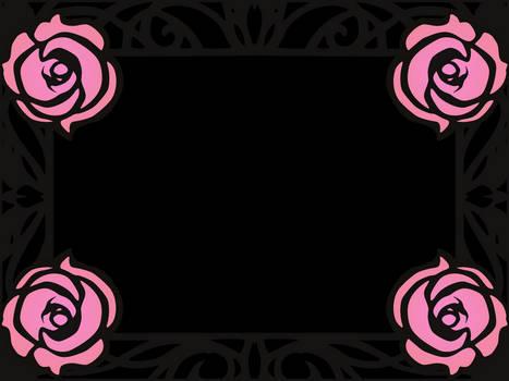 Animated Utena Rose Frame resources
