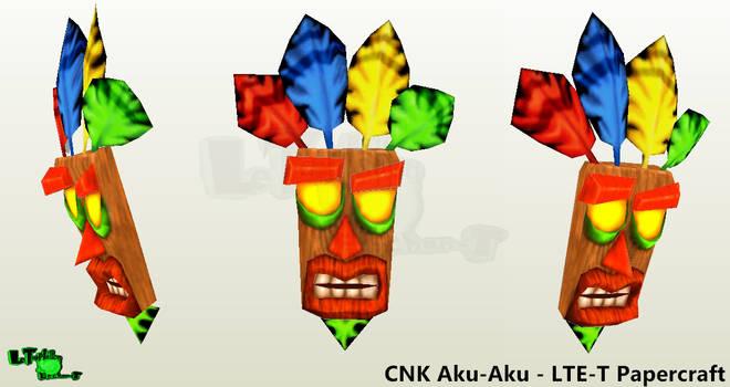 Aku-Aku Mask - LTE-T Papercraft (Reupload) by LTE-T