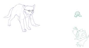 Blue Exorcist Cats: Shiro and Yuri (redraw) by nightwindwolf95
