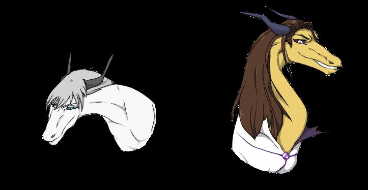 BLEACH Dragons: Gin and Aizen by nightwindwolf95