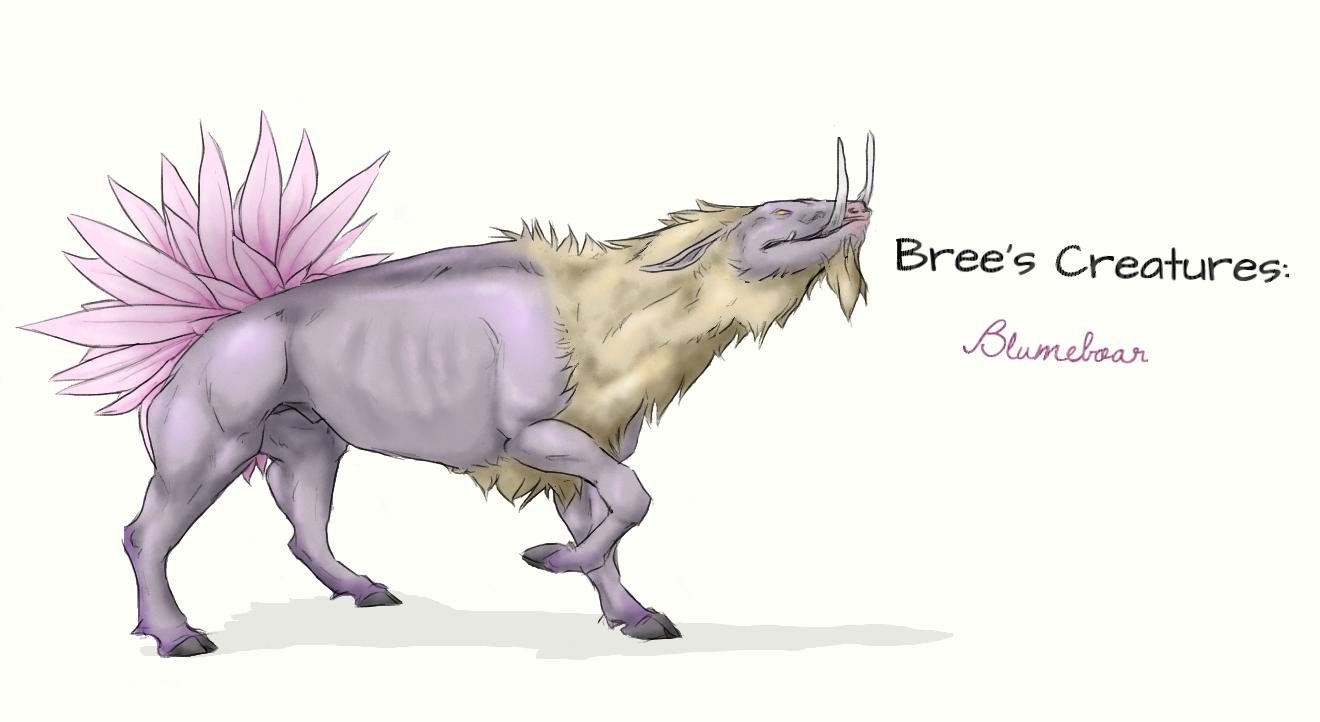 Bree's Creatures: Blumeboar by nightwindwolf95