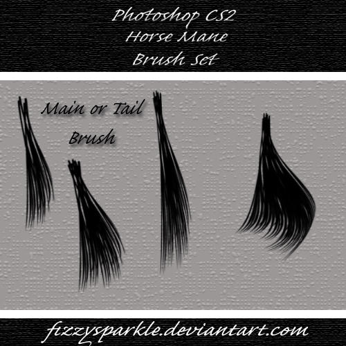 Horse Mane and Tail Brushes by fizzysparkle