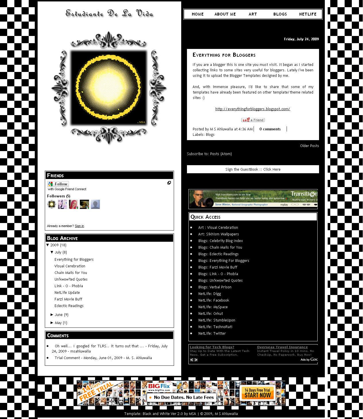 Blog Tmp: Black and White Ver2