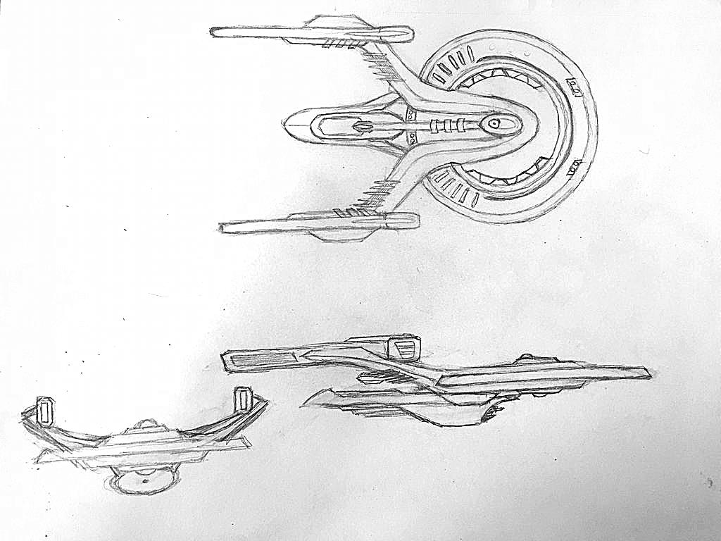 Star Trek ship concept by KillianSeraphim