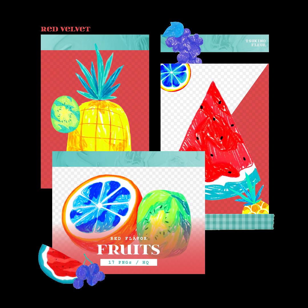 Red Velvet Red Flavor Fruits Png Pack By Tsukinofleur On Deviantart