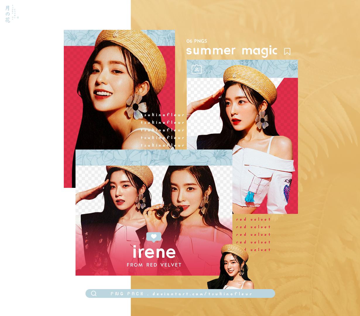 [Red Velvet] IRENE / Summer Magic - PNG PACK
