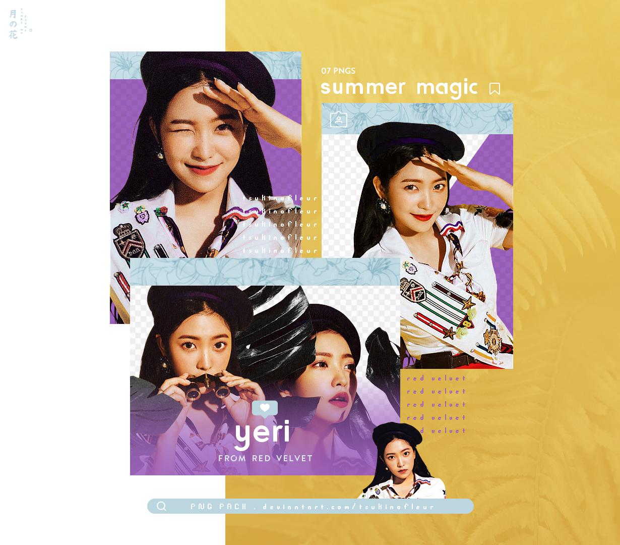 [Red Velvet] YERI / Summer Magic - PNG PACK