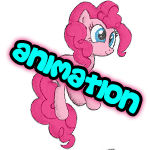 Bouncing Pinkie Pie Colored