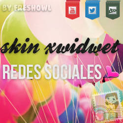 skin xwidwet redes sociales by freshowl