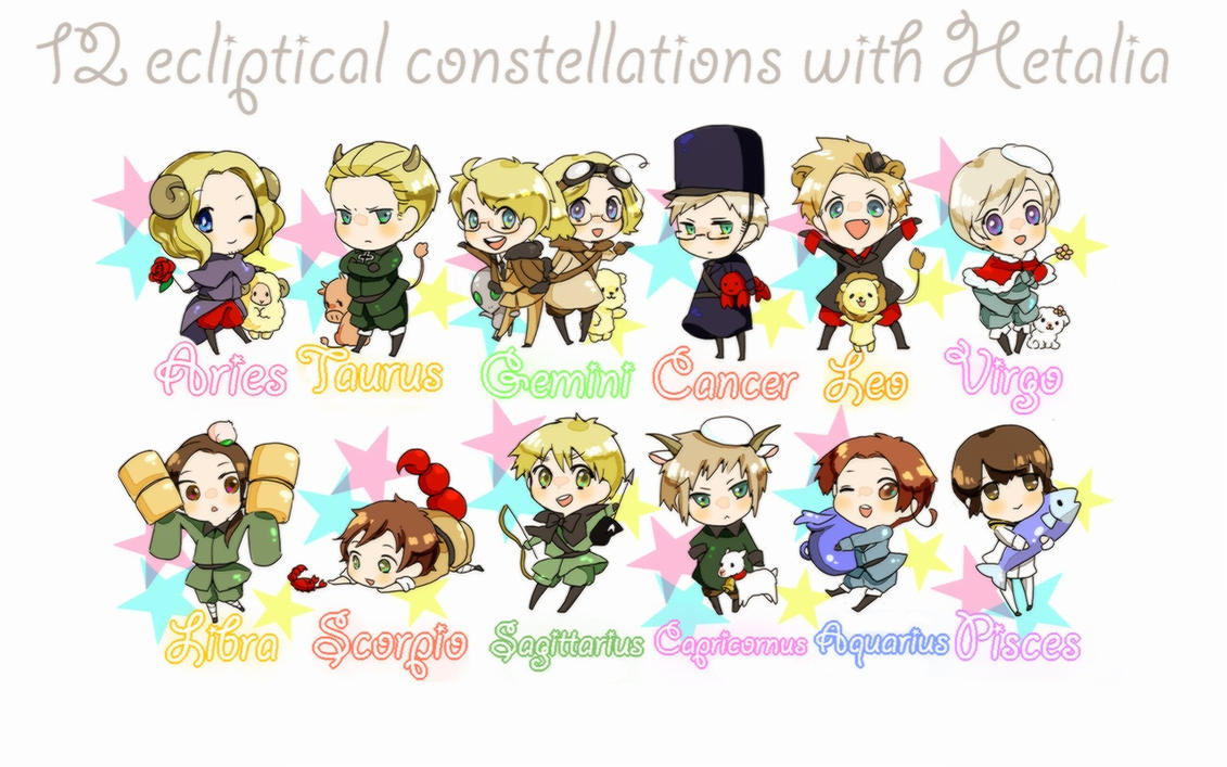 F T x Reader x Zodiac! Hetalia: Zodiac Countries 1 by