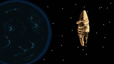 Pixel Amarr Station by luckycatmat