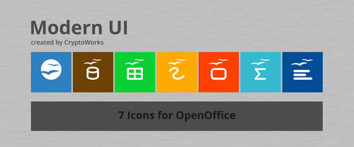Modern UI 7 Icons for OpenOffice by CryptoWorks