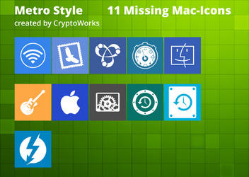 11 Metrostyle Icons for Mac-Apps by CryptoWorks