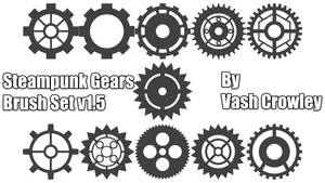 Steampunk Gear Brush Set 01 by Vash Crowley