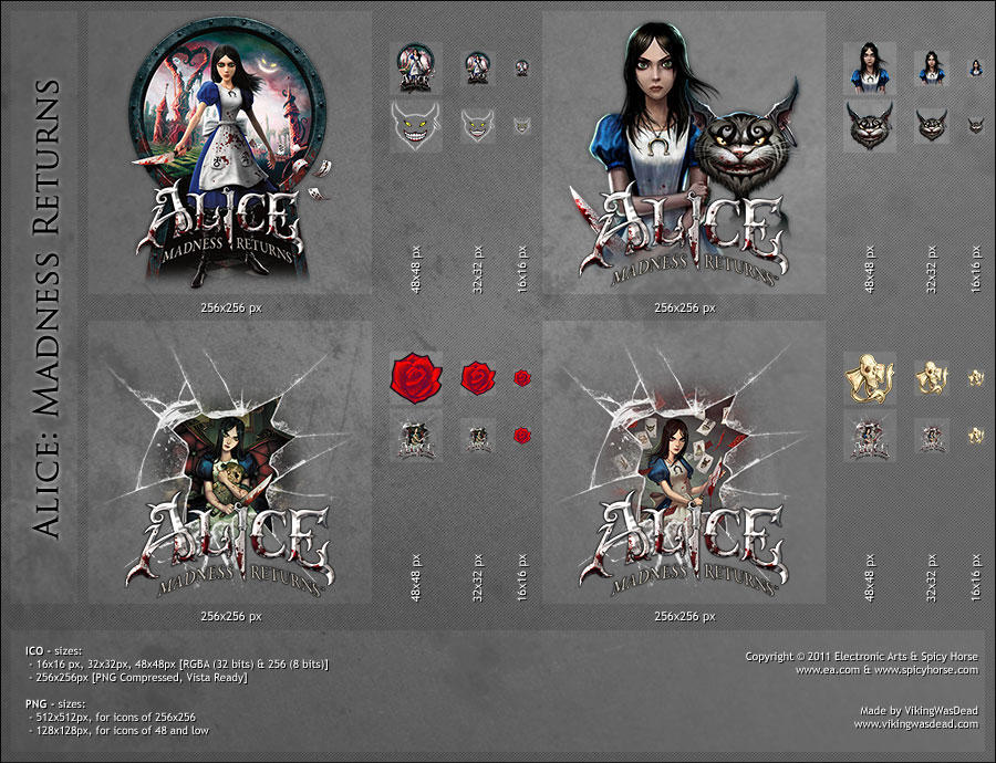 Alice: Madness Returns, Dock Icons by VikingWasDead
