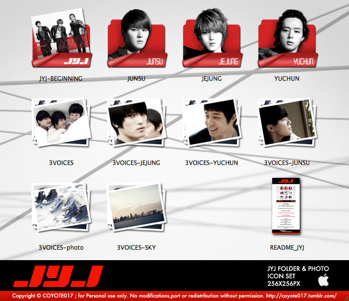 JYJ ICON SET by coyote777