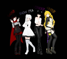 [MMD] Team RWBY - Alternate Outfits [DL Pack] by RosewickTrash