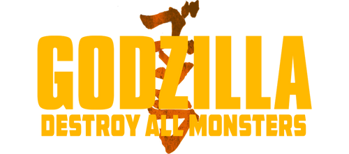 Godzilla 3 Destroy All Monsters logo PNG (FanMade)