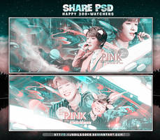 //SHARE PSD// HAPPY+300 WATCHERS