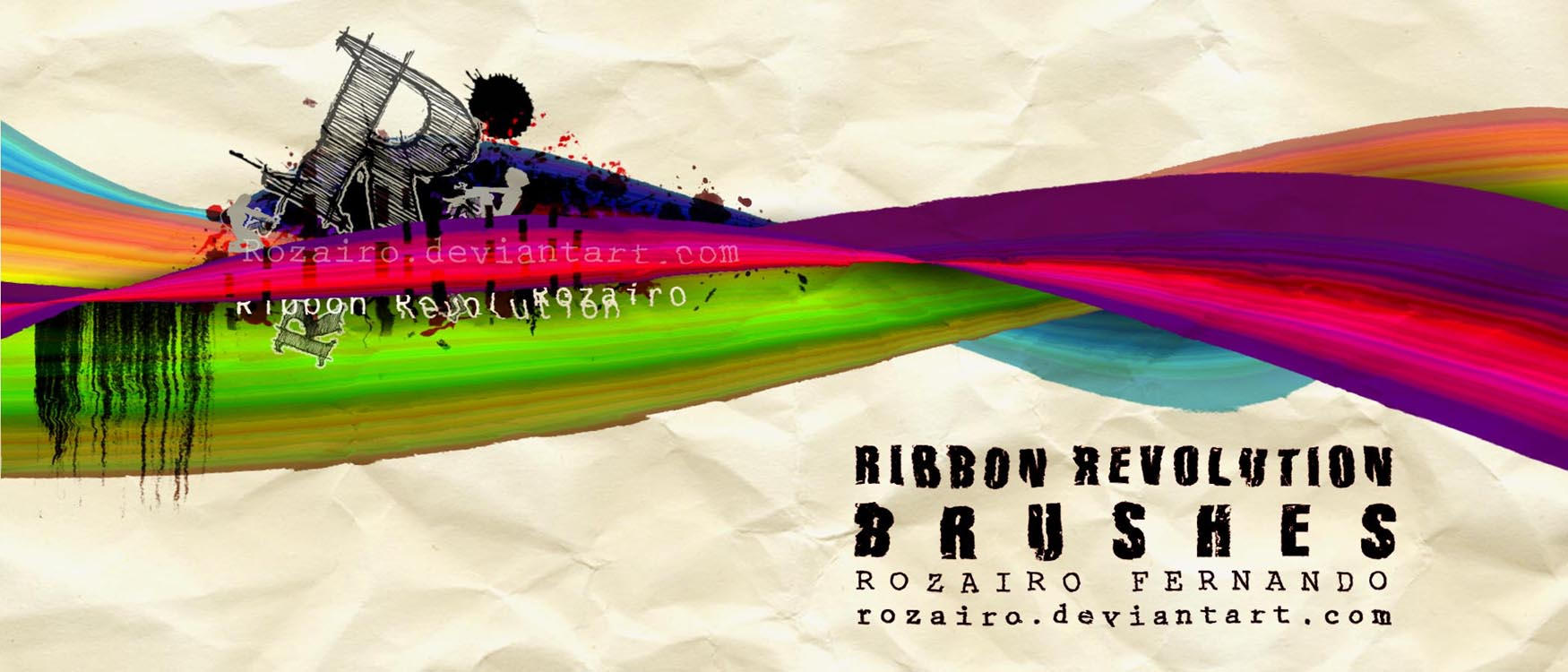 Ribbon Revolution Brushes by Rozairo