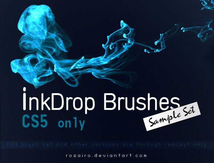 InkDrop --- Sample brush Set by Rozairo