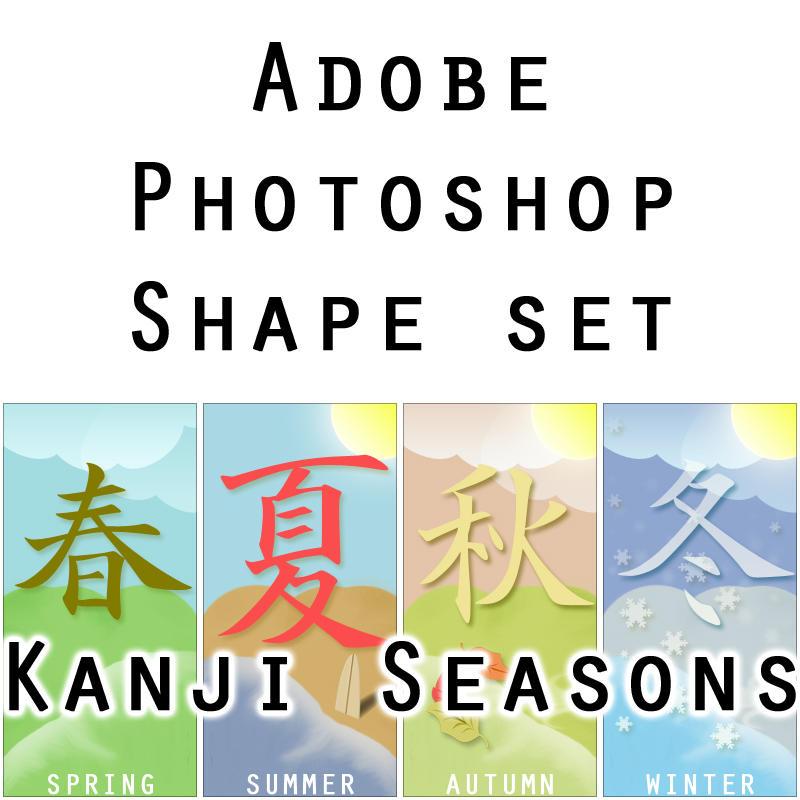 Kanji Seasons PS shape set by furryomnivore