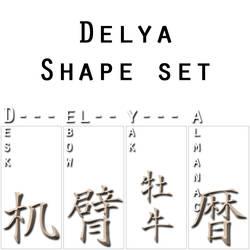 Delya Shape Set by furryomnivore