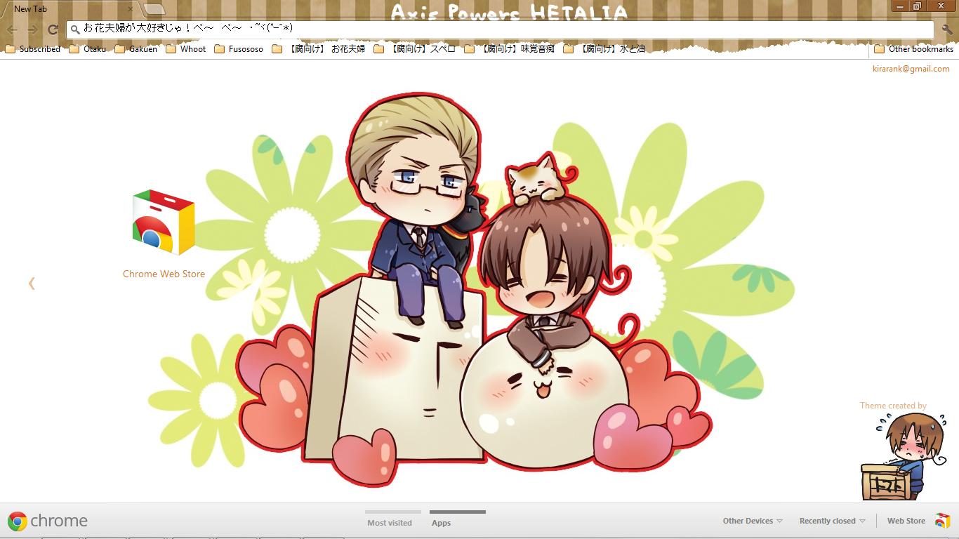 Google chrome themes yaoi -  Hetalia Gerita Neko Mochi Paradise Chrome Theme By Xxxkiraraxxx