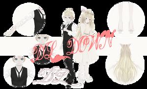 [MMD] TDA Spring Love Len and Neru (DL DOWN) by HeyMisaki-chan