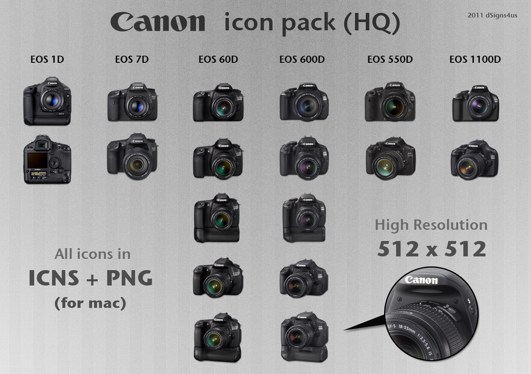 Canon Dslr Icon Pack Hq 4mac By Dsigns4us On Deviantart
