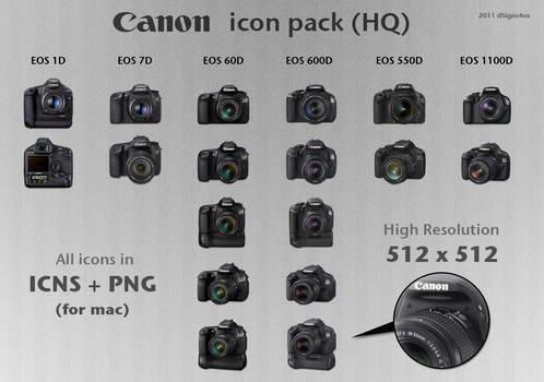 Canon DSLR Icon Pack HQ - 4mac