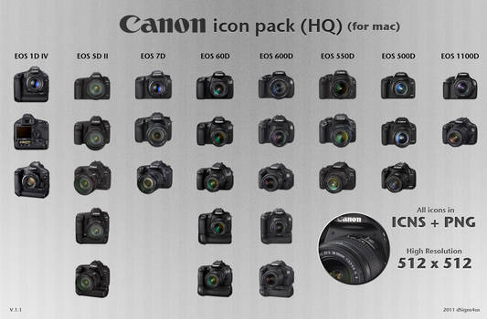 Canon DSLR Icon Pack HQ 1.1