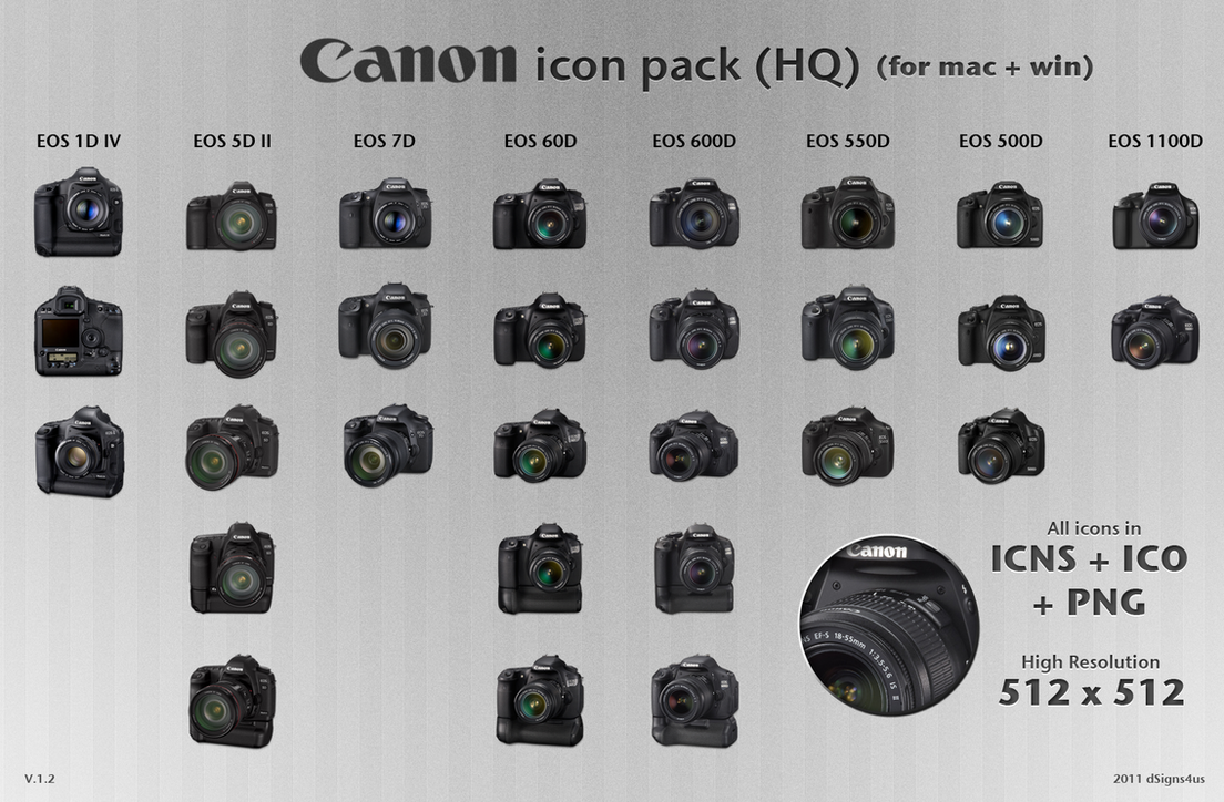 Canon Dslr Icon Pack Hq 12 By Dsigns4us On Deviantart