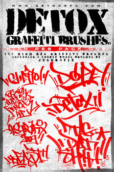 Detox Graffiti Brushes Pack 1