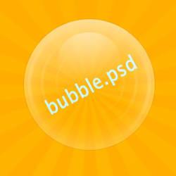 Bubble .PSD by Ridikul