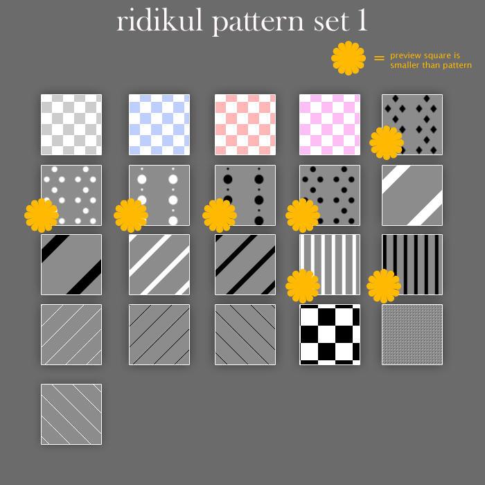 Ridikul Pattern Pack 1 by Ridikul