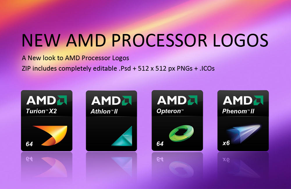 NEW AMD PROCESSOR LOGO ICONS by smoinuddin1110