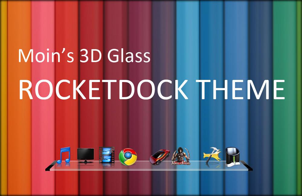 Moin's 3D Glass Rocketdock by smoinuddin1110