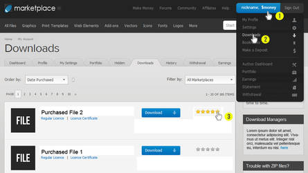 How To Rate a File TEMPLATE