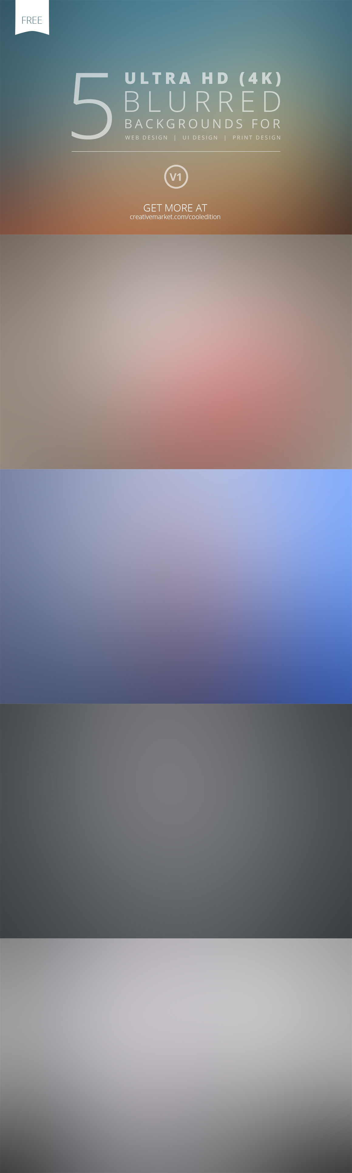 FREE - 5 Ultra HD Blurred Backgrounds v1 by cooledition