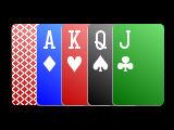 Simple 4 color card deck