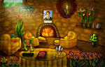Hufflepuff Common Room Animated