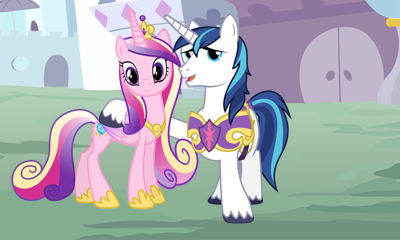 Cadence And Shining Armor 3D Picture for 3Ds by cesargo