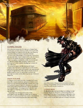 Gunslinger for 5th Edition Dungeons and Dragons by 3Fangs on
