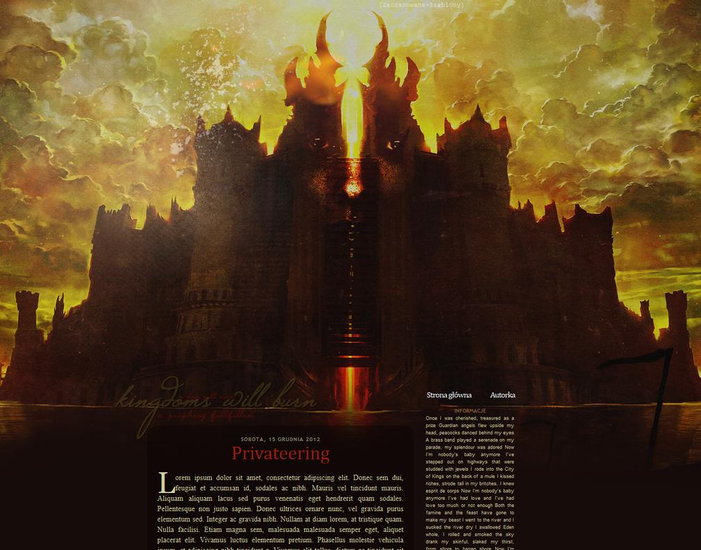 Szablon 183 - Kingdoms Will Burn by halveth